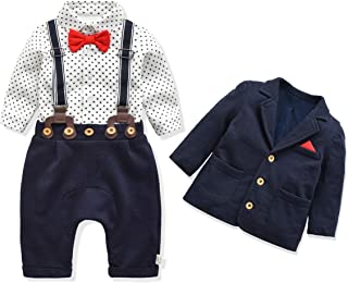 Baby Boy's Clothes Baby's Christening Set Baby Boys Bowtie Gentleman Clothes