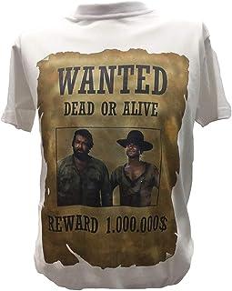 Desconocido Camiseta Bud Spencer y Terence Hill Hombre Niño Wanted Le Llamaban Trinidad Peliculas Clasicas Años 70