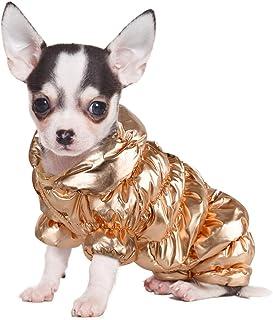 Small Dog Winter Coat Waterproof Puppy Dog Coat Jacket Pet Warm Lightweight Coat Cat Clothes Windproof Dog Snowsuit Warm F...