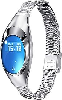 Roeam Kadın Akıllı Bileklik Z18 0,49 inç OLED Ekran Metal Kol Saati BT 4,0 Spor Bileklik Tansiyon Nabız Ölçer Uyku Kontrol...