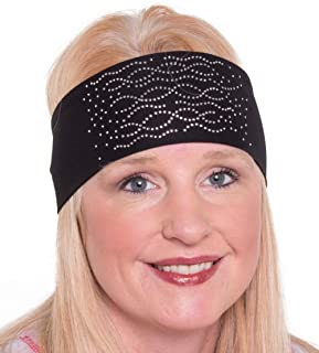 Open Road Girl Hair Bandana: Biker Chick Tie-Back Stretchy Head Wrap: Multi Swirl, 2 Colors