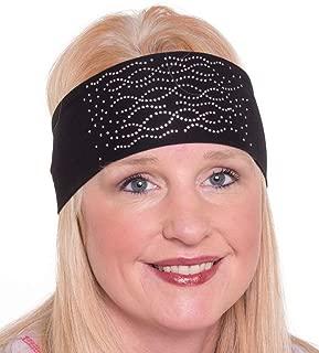 Open Road Girl Hair Bandana: Biker Chick Tie-Back Stretchy Head Wrap: Multi Swirl, 2 Colors