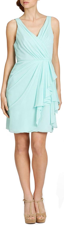 Dearta Women's Sheath VNeck Short Mini Mint Bridesmaid Dresses Party Graduation