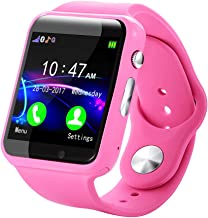 liuliuzuQQ Kids Smart Watch Phone smartwatches for Children with GPS Tracker Anti-Lost,Boys and Girls Birthday Compatible Android iOS Support Memory Card&Sim Card Waterproof Smart Watch(Pink)