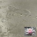 JEMIDI Tischdecke Stofftischdecke melierter Glanz Optik und Lotus Effekt Tafeldecke Tischdecken Decke Tisch Gartentischdecke Hellgrau 135cm x 180cm Oval - 4