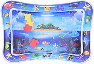 Hli-SHJHsmu Water Mat Inflatable Tummy Time Water Play Mat Leakproof Water Filled Baby Playmat Swim Ring Water Fill Play Mat