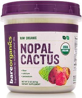 BareOrganics Nopal Cactus Powder   USDA Organic, Vegan, Non-GMO, Gluten-Free   Super Fruit, 8oz