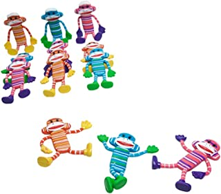 Rhode Island Novelty Bendable Sock Monkey 12-Pack (Assorted Colors)