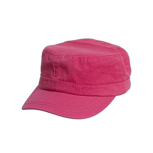 Women s Washed Military Cadet Style Cap - Fuchsia 860827606660