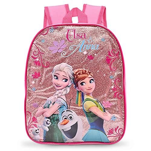 Ksopsdey Kinder Rucksack Schultasche für Mädchen Prinzessin Glitter Muster Kindergartentasche Kinderrucksack Leichtgewicht Kleinkind Schulrucksack 25.5 x 10 x 31CM, Pink