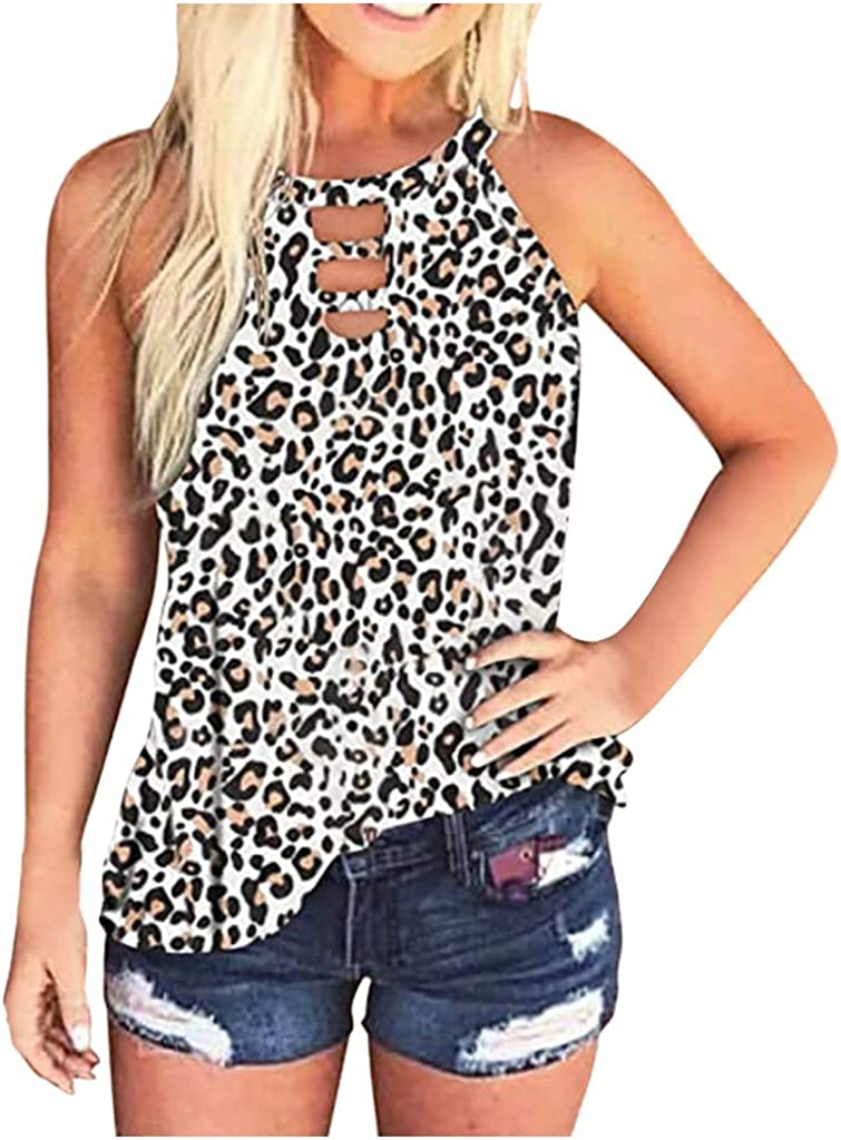 Womens Summer Tops, Womens Fashion Summer Casual Loose Fit Sleeveless Tank Tops Vest Tees Shirts Blouses Tunics