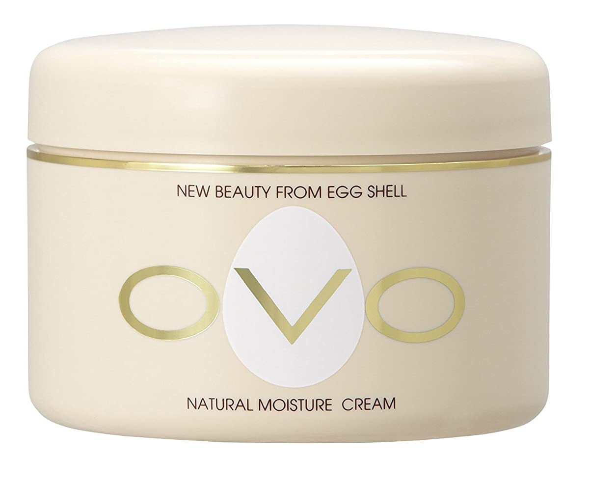 【オーヴォナチュラルモイスチュアクリーム】 卵殻エキス配合 天然素材由来の低刺激スキンケア 150g