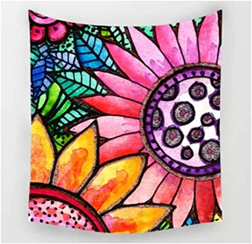 AITU Tapestry Tapisserie De Tapis De Camping De Tapis De Camping Géométrique Irrégulière Tapis De Yoga Salon Chambre à Coucher Décoration Murale Décoration