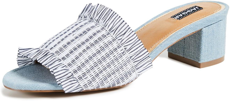 JAGGAR Women's Stitched Block Heel Sandals
