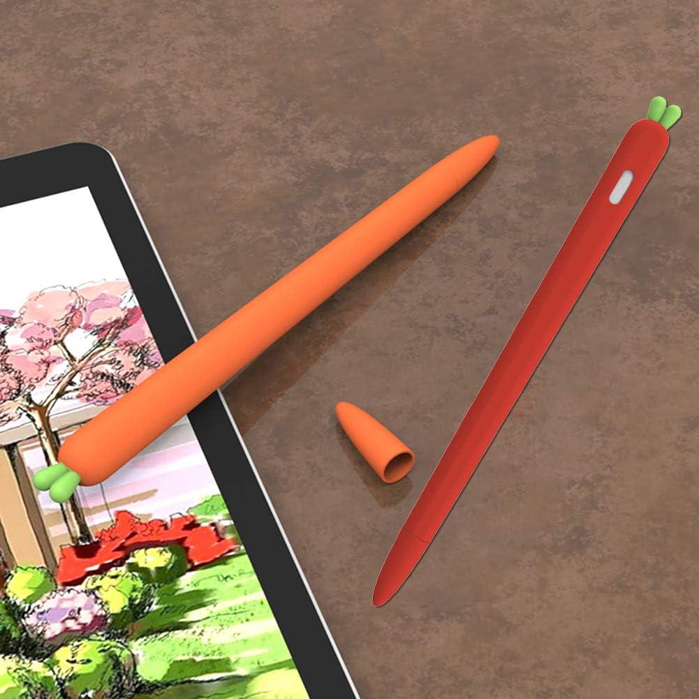 XIANGBAO Carotte en Forme de Stylet Manches Couverture Anti-d/érapant /étui en Silicone /écran Tactile Porte-Stylo Grip Compatible pour Apple Crayon