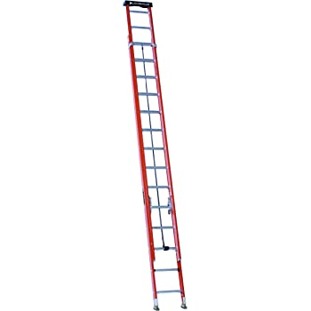 Louisville Ladder 28-Foot Fiberglass Extension Ladder with Pro Top, 300-Pound Capacity, L-3022-28PT