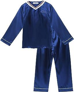 Freebily Pijama Niño con Pantalon y Camiseta de Manga Larga Ropa de Dormir para Niño Adolescentes 7-14 Años