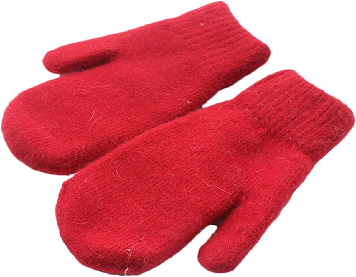 Chickle Adult Kids Winter Warm Thick Knitted Mitten Cashmere Mitten