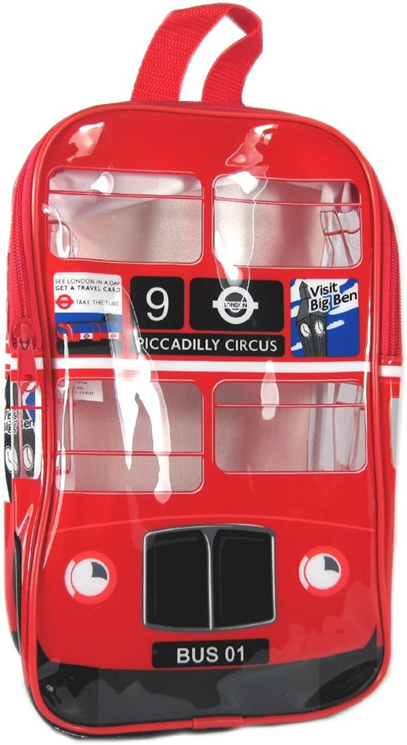 London Bus Back Pack  London Red Double Decker Bus Kids Book Bag, Transport for London Collection  1201A