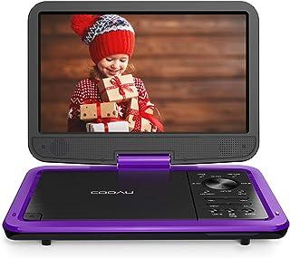 """COOAU Lecteur DVD Portable 12,5 cm avec écran TFT pivotant avancé 10,5"""" Batterie.."""