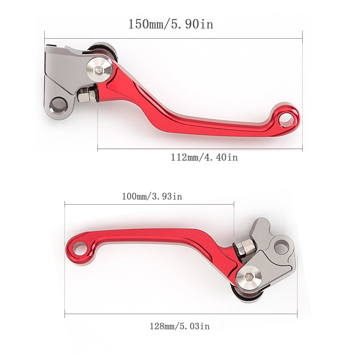 Red Motorcycle Brake Clutch Levers CNC Aluminum Billet Foldable Pivot Off Road Dirt Pit Bike for crf230f crf 230 f 230cc crf150f crf 150 f 150cc 2003-2019 crf250f crf 250 f 2019-2020