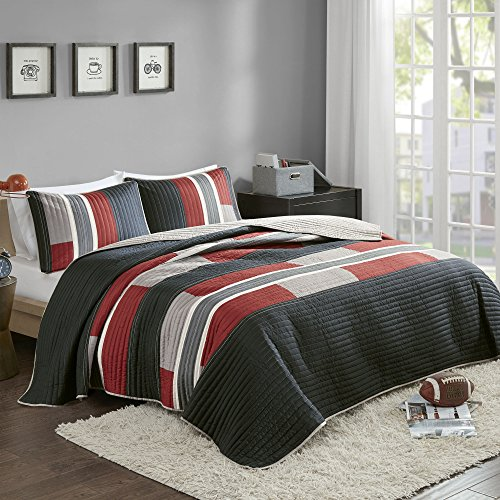red and white comforter - 9