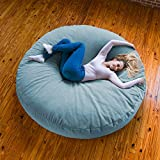 Jaxx 6 Foot Cocoon - Huge Bean Bag Lounge for Adults - Premium Chenille Cover, Turquoise