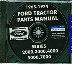COMPLETE And FULLY ILLUSTRATED 1966 & 1967 FORD TRACTOR PARTS MANUAL CD Includes 2000 3000 4000 5000 & 7000 Series