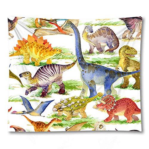 WAXB Tapiz Estera Animal Tapiz Colgante De Pared Toalla De Playa Manta De Dinosaurio Decoración del Hogar Mesa Tela De Yoga Decoración Hogar Regalo 51 X 59 Pulgadas