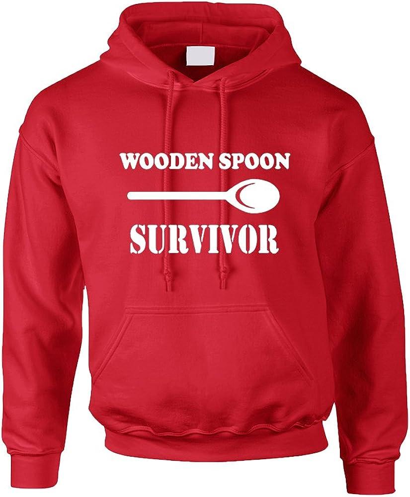 ALLNTRENDS Adult Hoodie Wooden Spoon Survivor Humor Text Funny Top