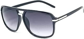 Giudice Black Frame Aviator Sunglasses for Men & Women UV400 (Non Polarized) Classic Style