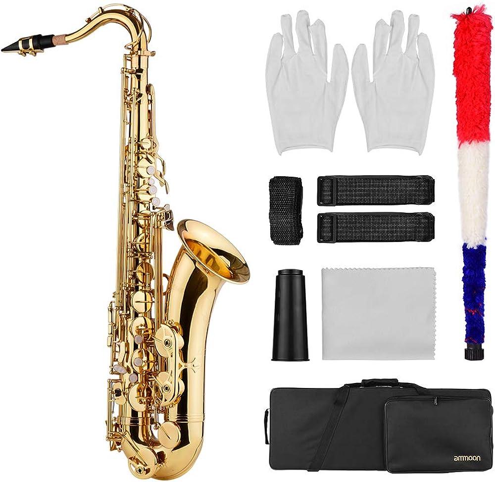 Ammoon sassofono tenore bb, ottone oro laccato LNN6082545751540PZ