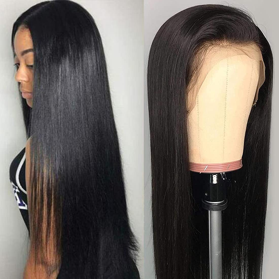 ANGIE QUEEN 13x4 Frontal Lace New York Mall Front Human Wig-Glue Hair Opening large release sale Wig