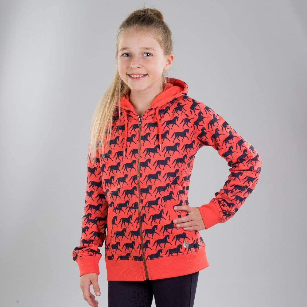 HORZE Lila Kids' Hoodie Deep Jr Quantity limited Animer and price revision Coral Pink XS