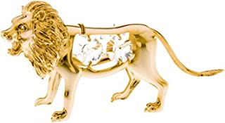 Animal Figurine Spectra Crystals By Swarovski Decor Accent (Gold Plated Lion)