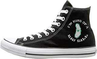 FOOOKL I'm Kind of A Big Dill Canvas Shoes High Top Sport Black Sneakers Unisex Style