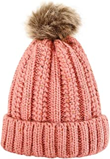 Ridkodg 2020 Beanie for Women with Pom Pom - Wool Soft Winter Knitted Hat - Travel Ski Outdoor Hats