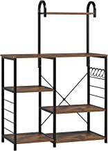 Homfa Kitchen Baker's Rack with High Shelf, Vintage Microwave Stand Utility Storage Shelf Kitchen Island Rack 3-Tier and 4...