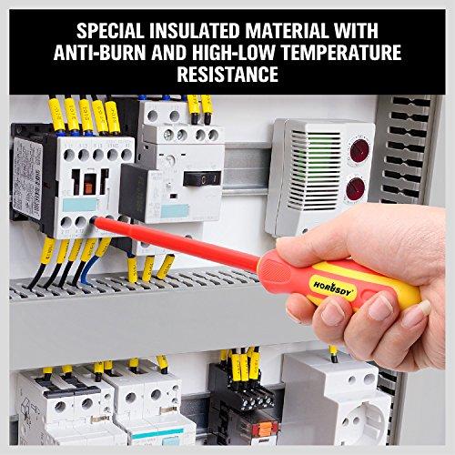 HORUSDY 6-Piece 1000v Insulated Screwdriver Set, Magnetic Tip Electrician screwdriver Set (Insulated Screwdriver Set)