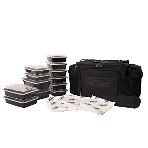 e44d720868 Isolator Fitness 6 Meal ISOBAG Meal Prep Management Insulated Lunch Bag  Cooler MADE IN USA Blackout