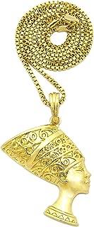 GWOOD Nefertiti Egyptian Queen Beautiful Woman Pendant Necklace