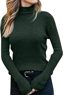 LISTHA Turtleneck Knitted Sweater Blouse Women Long Sleeve Cotton T-Shirt Tops