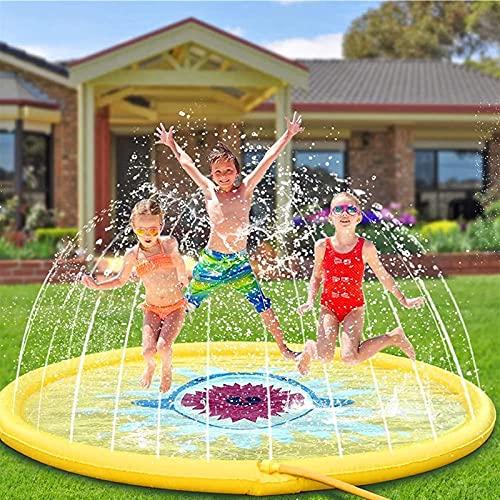 MNVOA Splash Pad 170CM Aspersor Agua para Niños PVC Splash Almohadilla Summer Sprinkle Wading Pool para Niños Pequeños Niños Niñas Outdoor Party Sprinkler