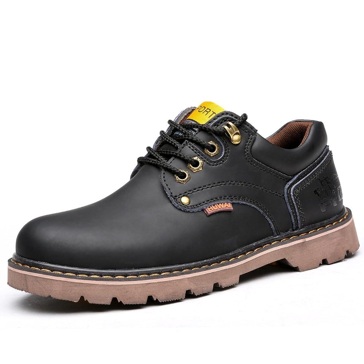 符号取り除くタック[ハンフウ] メンズシューズ レースアップシューズ 安全靴 レースアップ 本革 スーツ 防臭 軽量 流行り 男性用