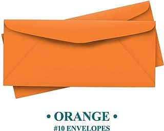 Bright Color #10 Envelopes - 50 Envelopes (Orange)