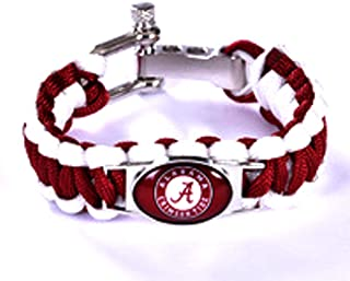alabama crimson tide paracord bracelet