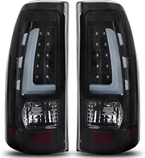 LED Taillights Tail Lamp for 1999-2006 Chevy Silverado, 99-02 GMC Sierra 1500 2500 3500 Pickup Truck Black Smoke ATTL1020