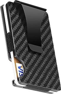 Wallet men from Menza Thin Mens Wallet Card Holder with Metal Money Clip - Aluminum Cards wallet for Men Slim