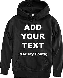 Custom Pullover Fleece Hoodied Sweatshirt Add Your Own Text for Men & Women