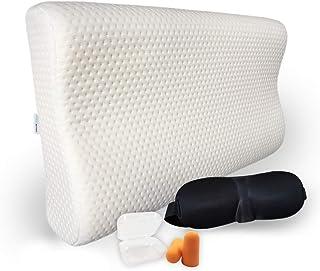 Almohada de la memoria de la forma, almohada cervical, almohada rectangular - máscara de sueño - gorro de dormir | Doux Rêveurs